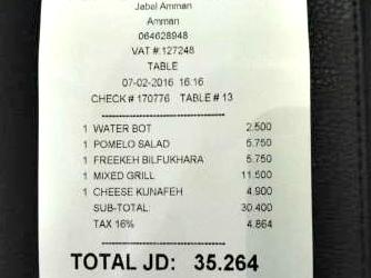 jordan tax restaurant