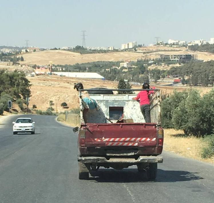 backseat truck kids amman
