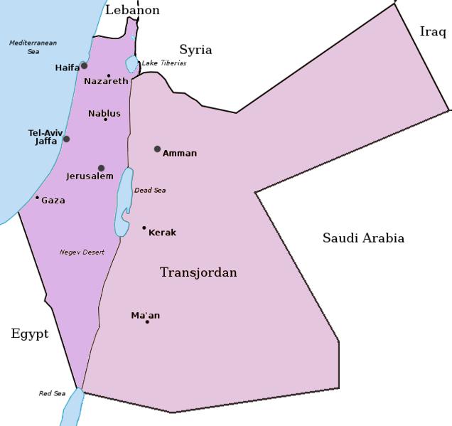 PalestineAndTransjordan british