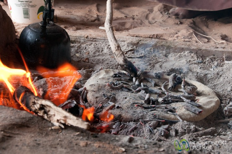 Baking Bedouin Bread (Abud) with Hot Ashes - Wadi Rum, Jordan