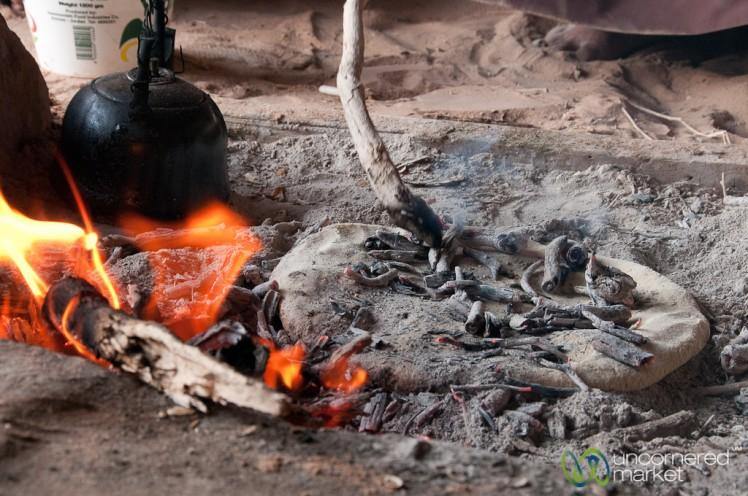 Baking Bedouin Bread (Abud) with Hot Ashes - Wadi Rum, Jordan