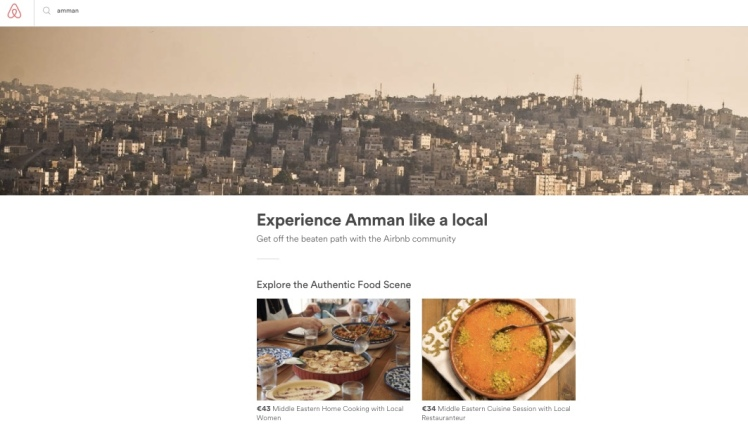 airbnb local experiences amman