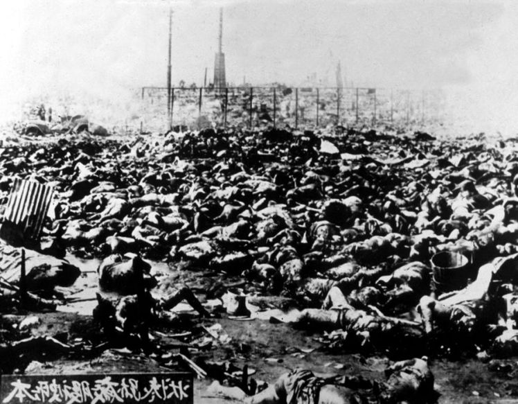 hiroshima bombing dead bodies