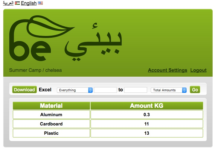 be environmental amman recycling tracker online