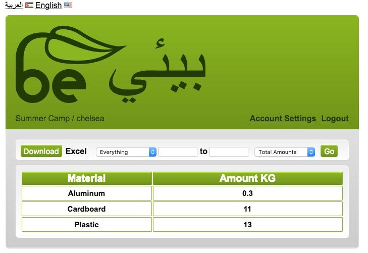 be environmental amman recycling tracker online