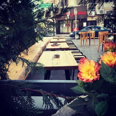 rumi cafe outdoor seating amman