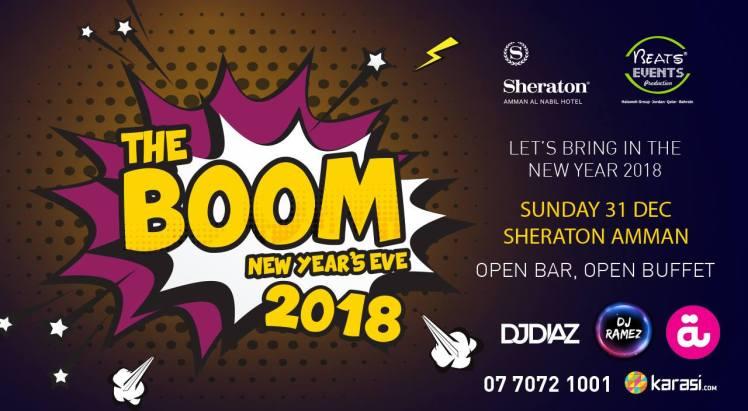 sheraton boom nye 2018 amman