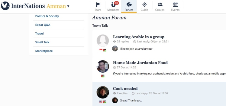 amman expat forum internations