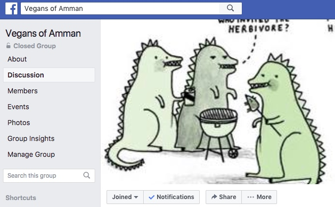 vegans of amman facebook group