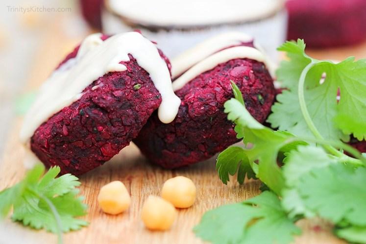 Beet-falafel trinitys kitchen