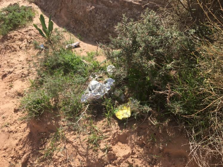rubbish on jordan trail
