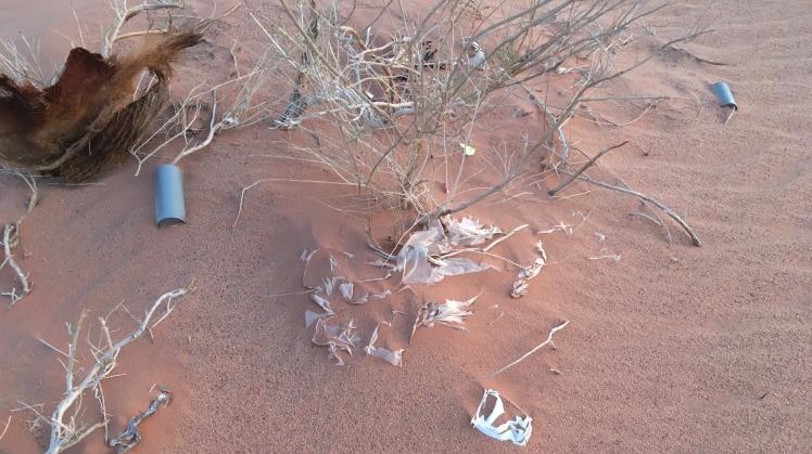 wadi rum trash plastic