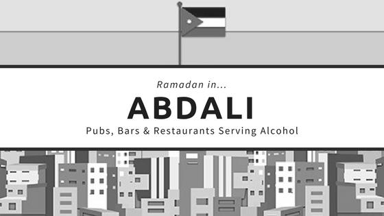 Abdali restaurants bars pubs ramadan alcohol