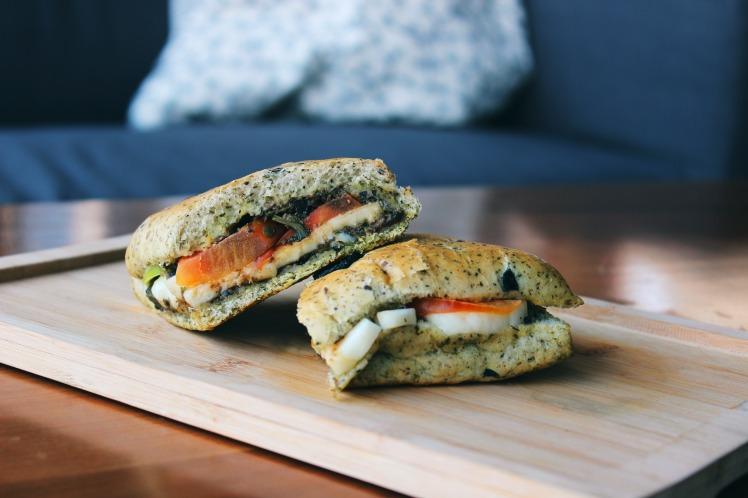 Sandwich_Caprese-Halloumi mindhub amman