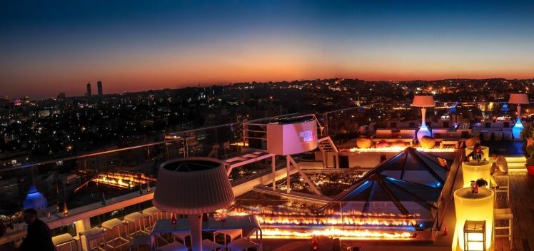 u roof lounge sunset amman skyline