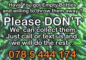 empty glass bottles recycle amman