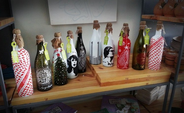 t bottle upcycled bottle artwork amman