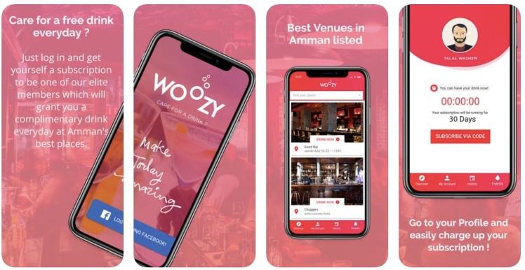 woozy app amman free drinks